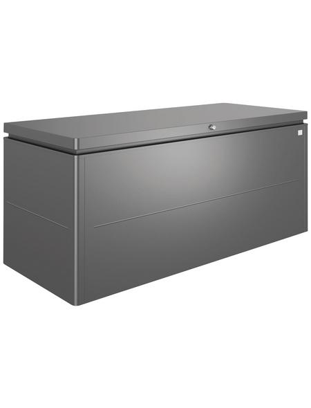 BIOHORT Gartenbox »LoungeBox«, BxHxT: 200 x 88,5 x 84 cm, dunkelgrau-metallic