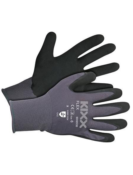 KIXX Gartenhandschuhe »Flex«, Größe: 11, grau/schwarz, Latexbeschichtet