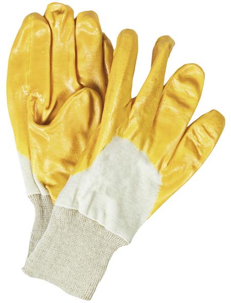 MR. GARDENER Gartenhandschuhe, Größe: L(9), gelb, Nitrilbeschichtet