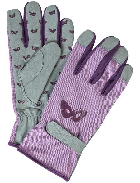 MR. GARDENER Gartenhandschuhe, Größe: M(8), rosa, Kunstleder-beschichtet