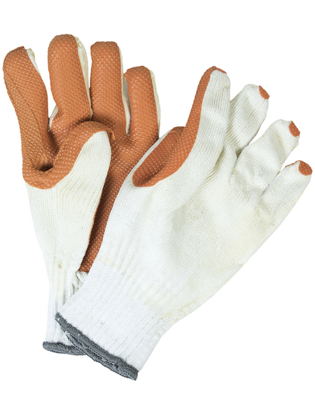 MR. GARDENER Gartenhandschuhe, weiß, Latexbeschichtet