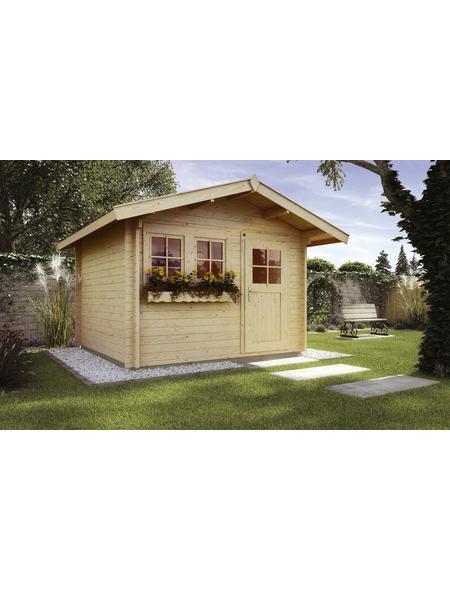 WEKA Gartenhaus »139 A Gr.2«, B x T: 380 x 370 cm, Satteldach, inkl. Fußboden