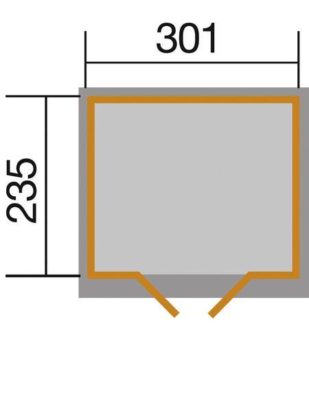 WEKA Gartenhaus »218 Gr. 3 wekaLine«, BxT: 320 x 265 cm (Aufstellmaße), Satteldach