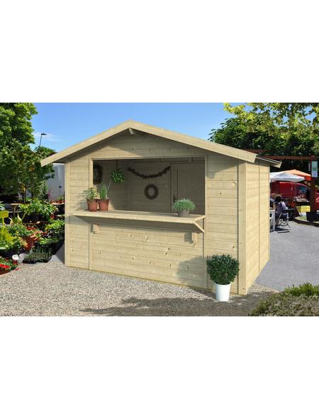 GARTENPRO Gartenhaus »3020«, B x T: 340 x 243 cm