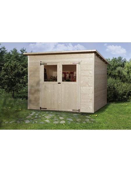WEKA Gartenhaus »325 Gr.3«, B x T: 278 x 237 cm, Pultdach