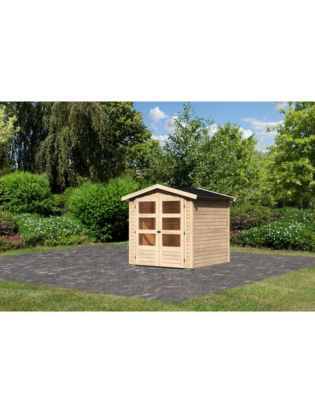 WOODFEELING Gartenhaus »Amberg 2«, BxT: 213 x 197 cm (Aufstellmaße), Satteldach