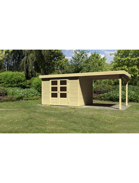 WOODFEELING Gartenhaus »Askola 5 «, BxT: 591.5 x 262 cm (Aufstellmaße), Flachdach