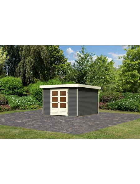 WOODFEELING Gartenhaus »Askola«, BxT: 334 x 331 cm (Aufstellmaße), Flachdach