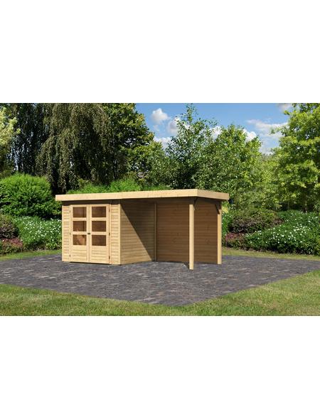 WOODFEELING Gartenhaus »Askola«, BxT: 467 x 238 cm (Aufstellmaße), Flachdach