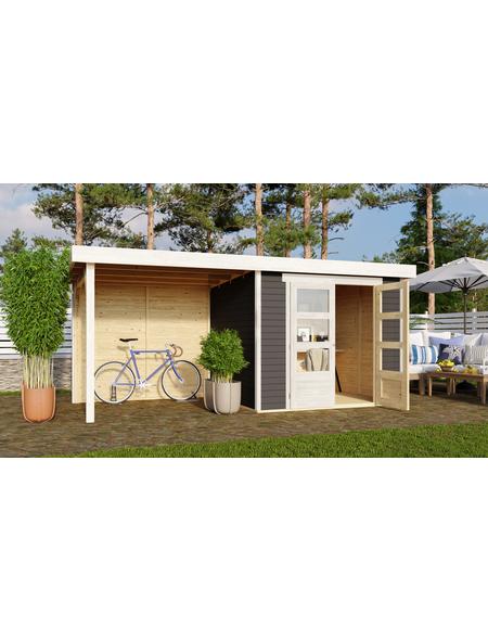 WOODFEELING Gartenhaus »Askola«, BxT: 491 x 238 cm (Aufstellmaße), Flachdach