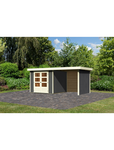 WOODFEELING Gartenhaus »Askola«, BxT: 491 x 262 cm (Aufstellmaße), Flachdach