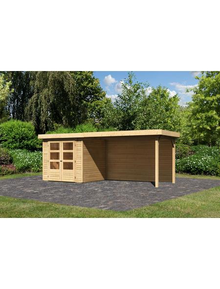 WOODFEELING Gartenhaus »Askola«, BxT: 504.5 x 238 cm (Aufstellmaße), Flachdach