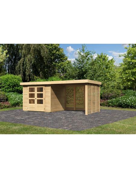 WOODFEELING Gartenhaus »Askola«, BxT: 528.5 x 238 cm (Aufstellmaße), Flachdach