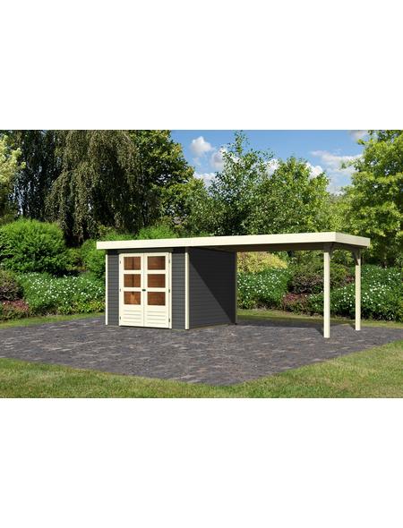 WOODFEELING Gartenhaus »Askola«, BxT: 528.5 x 262 cm (Aufstellmaße), Flachdach