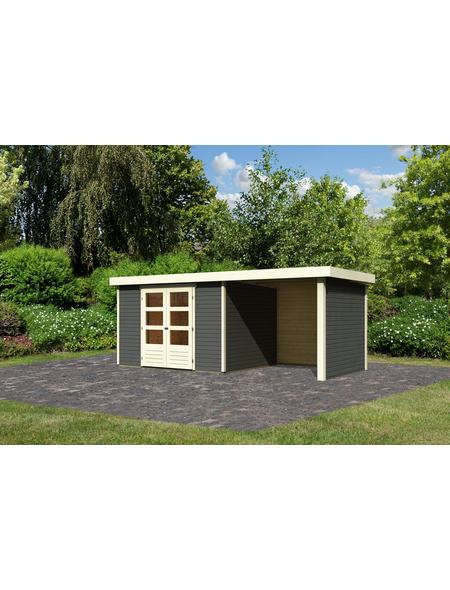WOODFEELING Gartenhaus »Askola«, BxT: 554 x 262 cm (Aufstellmaße), Flachdach
