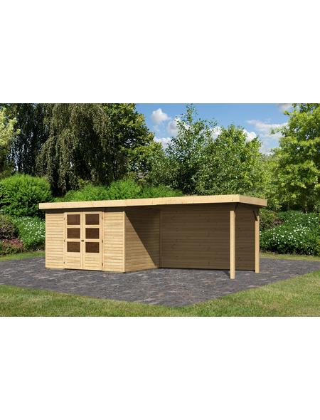 WOODFEELING Gartenhaus »Askola«, BxT: 591.5 x 238 cm (Aufstellmaße), Flachdach
