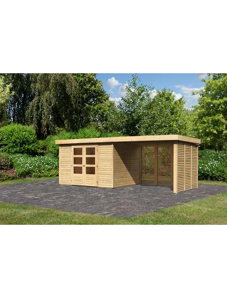 WOODFEELING Gartenhaus »Askola«, BxT: 591.5 x 262 cm (Aufstellmaße), Flachdach