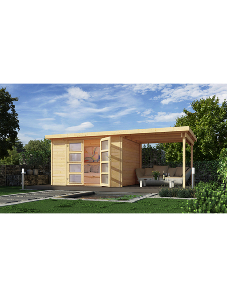 WEKA Gartenhaus, B x T: 452 x 237 cm, Flachdach