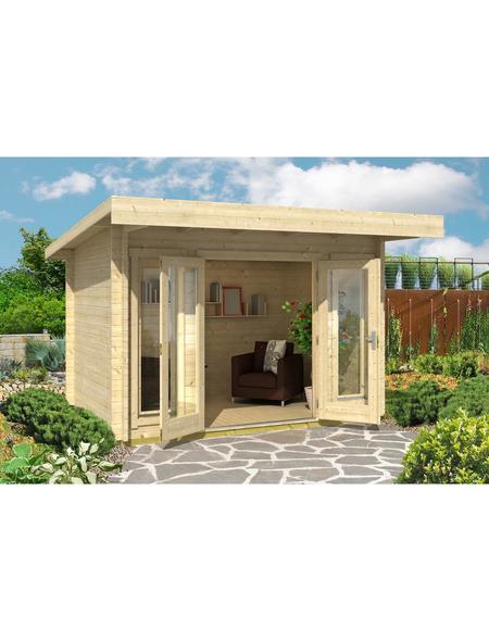 LASITA MAJA Gartenhaus »Barbados«, BxT: 390 x 350 cm, Flachdach