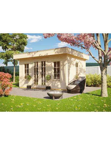 SKANHOLZ Gartenhaus »Basel«, B x T: 460 x 440 cm, Fichte