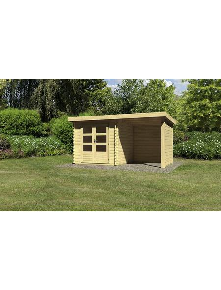 WOODFEELING Gartenhaus »Bastrup 2«, BxT: 454.5 x 273 cm (Aufstellmaße), Pultdach