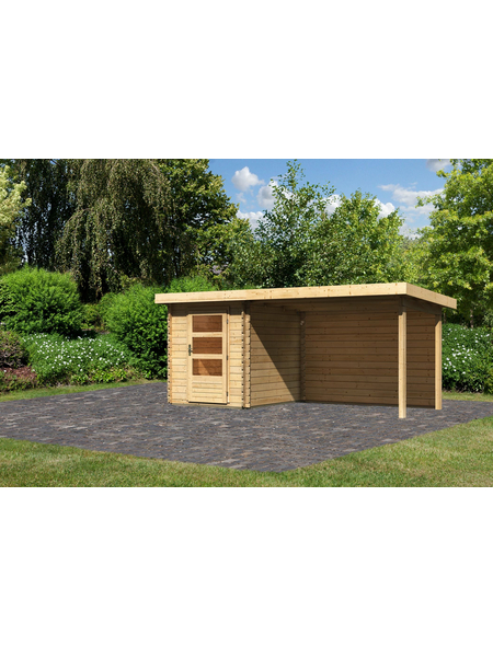 WOODFEELING Gartenhaus »Bastrup«, BxT: 509 x 256 cm (Aufstellmaße), Pultdach
