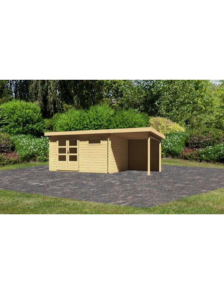 WOODFEELING Gartenhaus »Bastrup«, BxT: 604.5 x 333 cm (Aufstellmaße), Pultdach