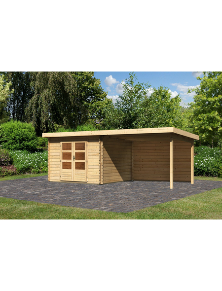WOODFEELING Gartenhaus »Bastrup«, BxT: 614.5 x 333 cm (Aufstellmaße), Pultdach