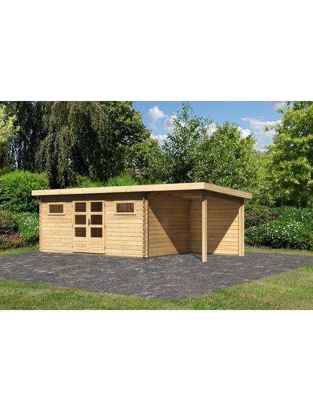 WOODFEELING Gartenhaus »Bastrup«, BxT: 694.5 x 333 cm (Aufstellmaße), Pultdach