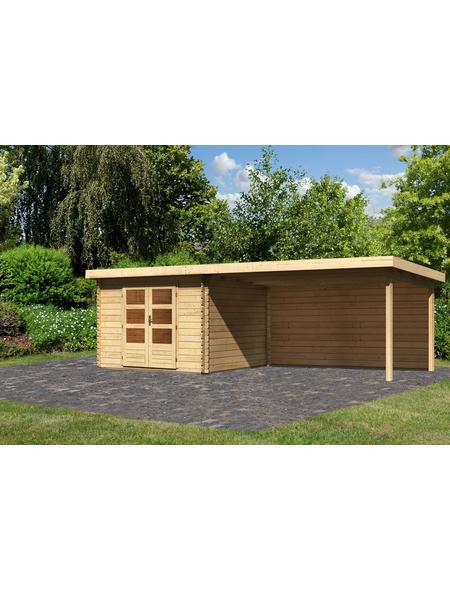 WOODFEELING Gartenhaus »Bastrup«, BxT: 714.5 x 333 cm (Aufstellmaße), Pultdach