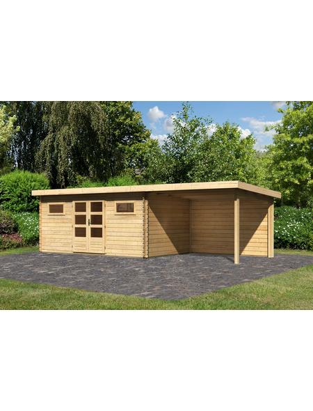 WOODFEELING Gartenhaus »Bastrup«, BxT: 794.5 x 333 cm (Aufstellmaße), Pultdach