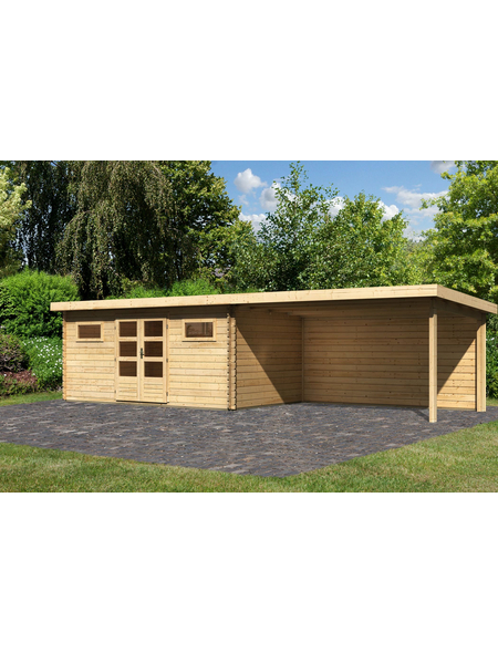 WOODFEELING Gartenhaus »Bastrup«, BxT: 894.5 x 333 cm (Aufstellmaße), Pultdach