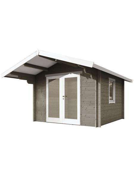 WOLFF FINNHAUS Gartenhaus »Bergen«, BxT: 360 x 395 cm, Satteldach