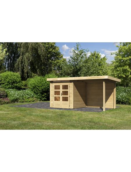 WOODFEELING Gartenhaus, BxT: 120 x 234,5 cm (Außenmaße), Massivholzdach