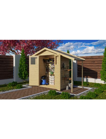 WOODFEELING Gartenhaus, BxT: 180 x 93 cm (Außenmaße), Dachplatte