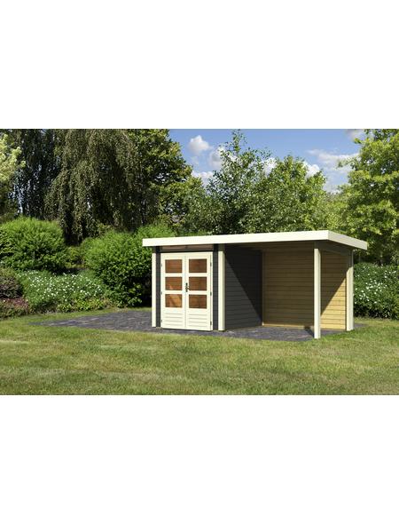WOODFEELING Gartenhaus, BxT: 204 x 204 cm (Außenmaße), Massivholzdach