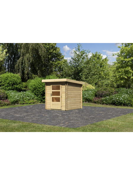 WOODFEELING Gartenhaus, BxT: 210 x 256 cm (Aufstellmaße), Pultdach