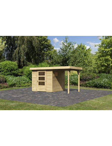 WOODFEELING Gartenhaus, BxT: 213 x 217 cm (Außenmaße), Dachplatte