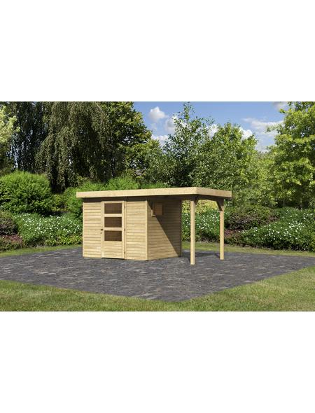 WOODFEELING Gartenhaus, BxT: 242 x 217 cm (Außenmaße), Dachplatte