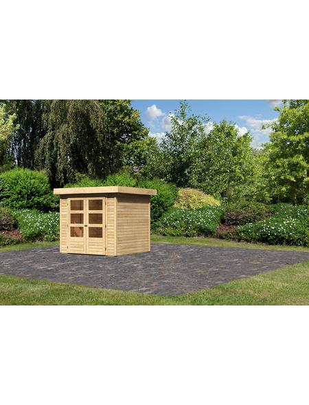 WOODFEELING Gartenhaus, BxT: 242 x 238 cm (Aufstellmaße), Flachdach