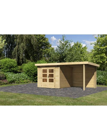 WOODFEELING Gartenhaus, BxT: 244 x 244 cm (Außenmaße), Massivholzdach