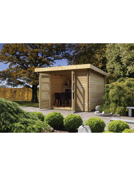 WOODFEELING Gartenhaus, BxT: 255 x 273 cm (Aufstellmaße), Pultdach
