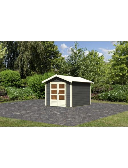 WOODFEELING Gartenhaus, BxT: 270 x 348 cm (Aufstellmaße), Satteldach