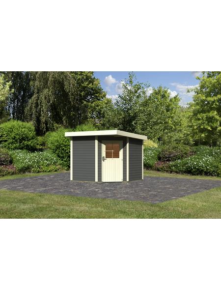 WOODFEELING Gartenhaus, BxT: 276 x 273 cm (Aufstellmaße), Flachdach
