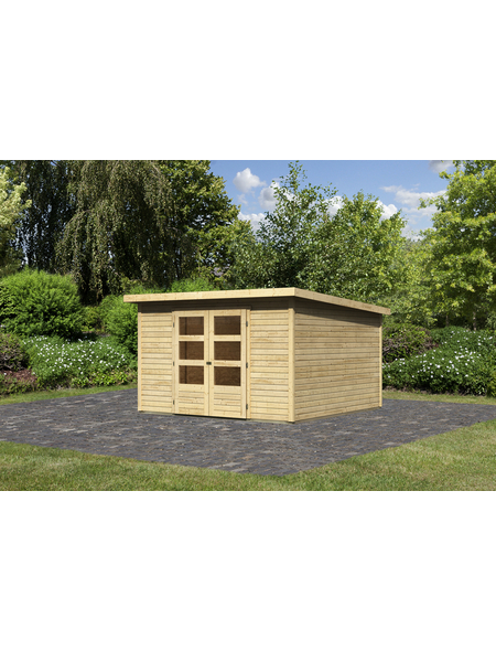 Gartenhaus, BxT: 305 x 305 cm (Außenmaße), Dachplatte