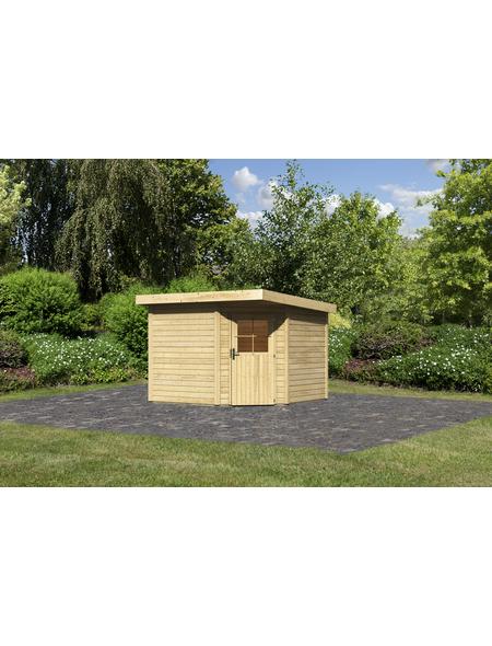 WOODFEELING Gartenhaus, BxT: 306 x 303 cm (Aufstellmaße), Flachdach