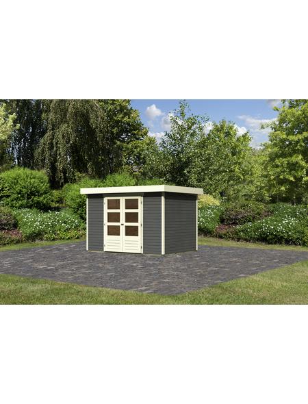 WOODFEELING Gartenhaus, BxT: 330 x 238 cm (Aufstellmaße), Flachdach