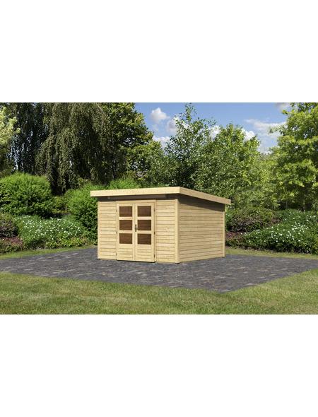WOODFEELING Gartenhaus, BxT: 336 x 332 cm (Aufstellmaße), Pultdach