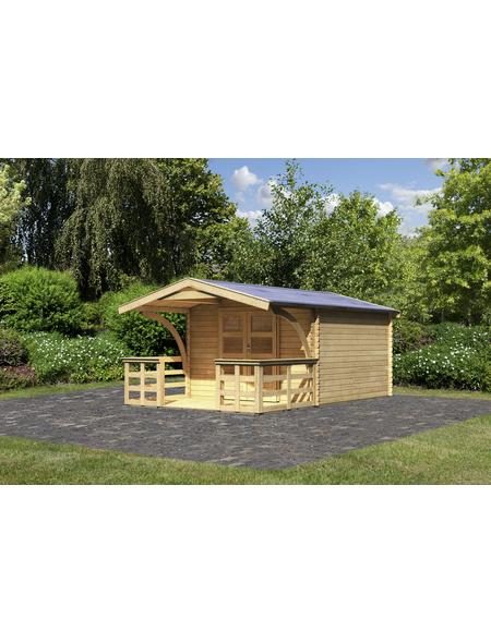 WOODFEELING Gartenhaus, BxT: 346 x 350 cm (Aufstellmaße), Satteldach