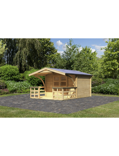 WOODFEELING Gartenhaus, BxT: 346 x 427.5 cm (Aufstellmaße), Satteldach